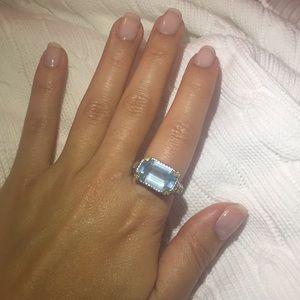 Jewelry - White gold 18k semi precious stone ring with heart